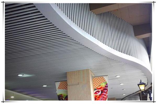 凸槽鋁圓通吊頂裝飾效果圖