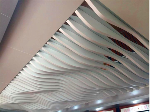 弧形鋁方通吊頂裝飾效果圖