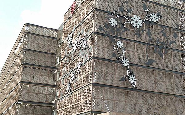 沖孔雕花鋁單板裝飾效果圖